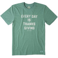Life is Good Men's Every Day Is Thanksgiving Crusher Tee Short-Sleeve T-Shirt