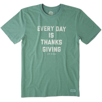 Life is Good Mens Every Day Is Thanksgiving Crusher Tee Short-Sleeve T-Shirt