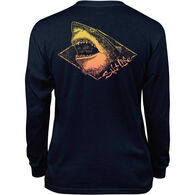 Salt Life Youth Electric Shark Long-Sleeve T-Shirt