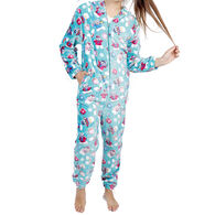 Candy Pink Girl's Polar Bear Pajama Onesie