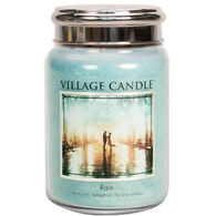 Village Candle Large Glass Jar Candle - Rain