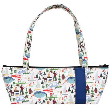 Little Man Womens Maine Print Tomboy Zippered Fabric Handbag