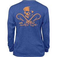Salt Life Youth Skull And Hooks Long-Sleeve T-Shirt