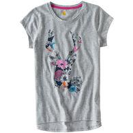 Carhartt Girls' Wild Flower Deer Short-Sleeve T-Shirt