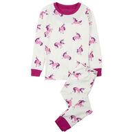 Hatley Girls' Majestic Unicorns Organic Cotton Pajama Set