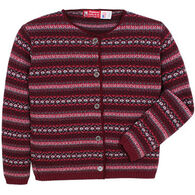 Binghamton Knitting Women's Jacquard Cardigan Sweater