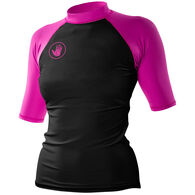 Body Glove Women's Basic Raglan Fitted Short-Sleeve Rashguard