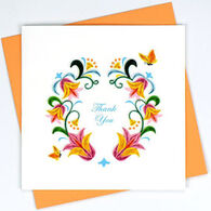 Quilling Card Flower Wreath Thank You Card
