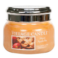Village Candle Small Glass Jar Candle - Warm Apple Pie