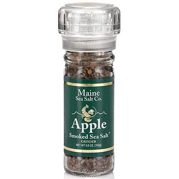 Maine Sea Salt Apple Smoked Salt Refillable Grinder