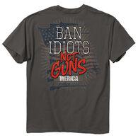 Buck Wear Men's Ban Idiots Short-Sleeve T-Shirt