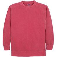 Alpha Men's Pigment-Dyed Crew Neck Sweatshirt