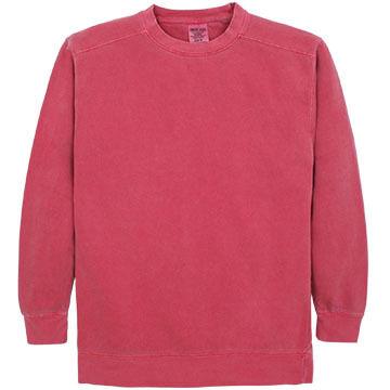 Alpha Mens Pigment-Dyed Crew Neck Sweatshirt