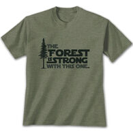 Earth Sun Moon Trading Men's The Forest is Strong Short-Sleeve T-Shirt