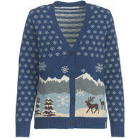 Woolrich Women's Chimney Peak Holiday Motif Cardigan
