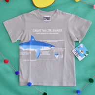 Spudz Toddler Boys' Great White Shark Short-Sleeve T-Shirt