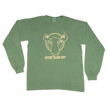 NH Printworks Mens Coming & Going Moose Long-Sleeve T-Shirt