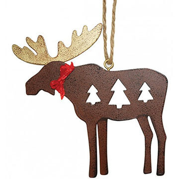 Cape Shore Moose Metal Ornament