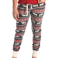 Lazy One Women's Moose Fair Isle Legging Pajama Pant