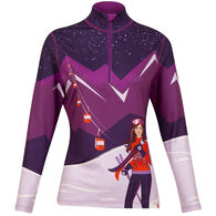 Krimson Klover Women's Summit Express Quarter-Zip Baselayer Long-Sleeve Top