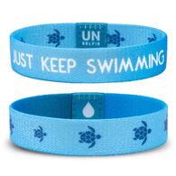 Unselfie Women's Just Keep Swimming Pattern Wrist Band