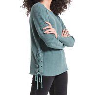 Z Supply Women's The Side Lace Up Thermal Long-Sleeve Shirt