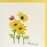 Quilling Card Yellow Daisies Thank You Card