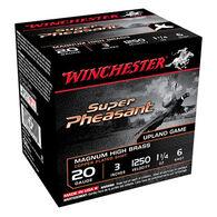 """Winchester Super Pheasant Magnum High Brass 20 GA 3"""" 1-1/4 oz. #6 Shotshell Ammo (25)"""