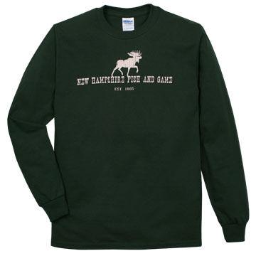 NH Fish and Game Mens Moose Long-Sleeve T-Shirt