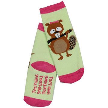 Lazy One Infant Girls Teething Sock