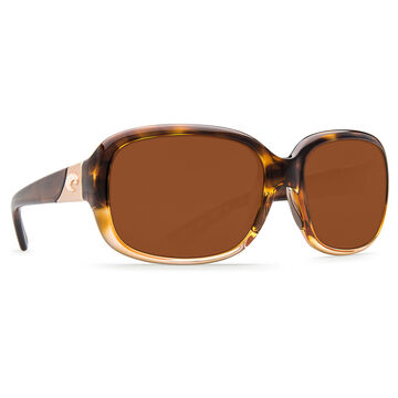 Costa Del Mar Womens Gannet Plastic Lens Polarized Sunglasses