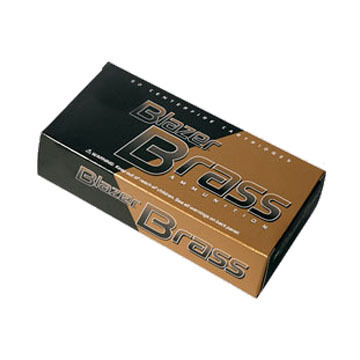CCI Blazer Brass 380 Auto 95 Grain FMJ RN Handgun Ammo (50)