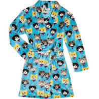 Candy Pink Girls' Kittens Robe