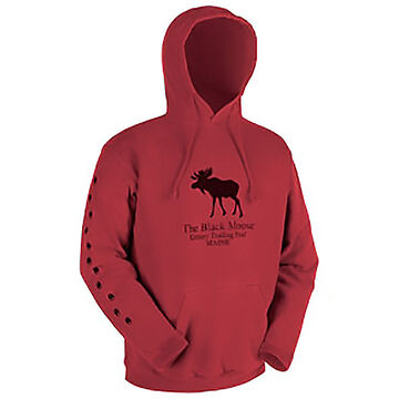 Original Design Mens Black Moose Hooded Sweatshirt