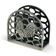 Big Sky Carvers Rooster Metal Napkin Holder