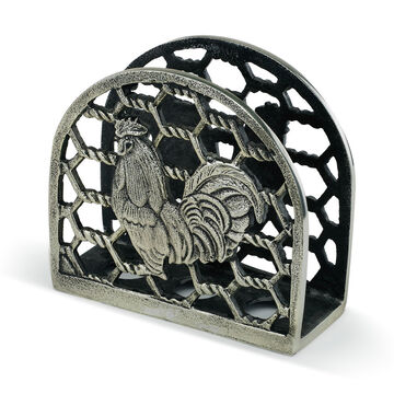 Big Sky Carvers Rooster Metal Napkin Holder