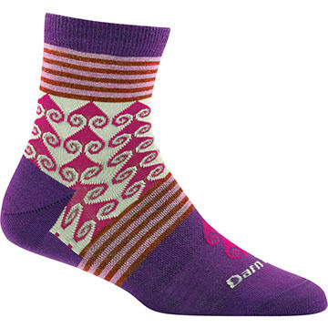 Darn Tough Vermont Womens Swirl Print Shorty Sock