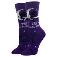 Sock Harbor / Ocean Beach Women's 100% That Witch Crew Sock