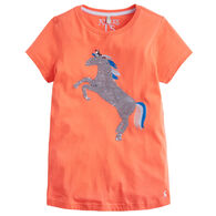 Joules Girl's Astra Jersey Applique Short-Sleeve Shirt