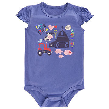 Carhartt Infant/Toddler Girls' Farm Fresh Bodyshirt