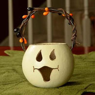 Meadowbrooke Gourds Ghost Face Party Treat Gourd