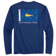 Southern Tide Men's Mahi Mahi Fish Flag Performance Long-Sleeve Shirt