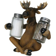 Rivers Edge Moose Holding Salt and Pepper Shaker