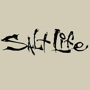 Salt Life Signature Medium Decal - Black