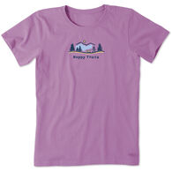 Life is Good Women's Happy Trails Vista Vintage Crusher Short-Sleeve T-Shirt