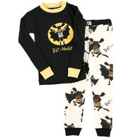 Lazy One Toddler Boy's Bat Moose PJ Set