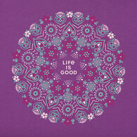 Life is Good Women's Wildflower Primal Mandala Crusher Short-Sleeve T-Shirt