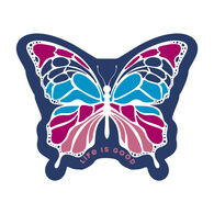 Life is Good Butterfly Small Die Cut Decal