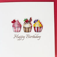 Quilling Card Cupcake Birthday Card