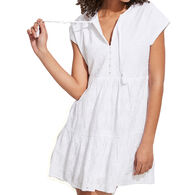 Vineyard Vines Women's Island Eyelet Tiered Swing Dress